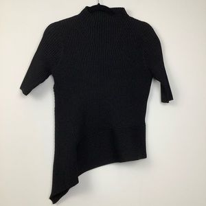 Camilla & Marc Libra Ribbed Knit Top in Black